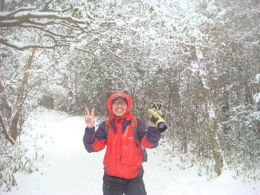 自分と雪景色DSC01692