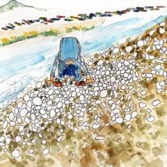 土器川で蛸の眼