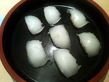 収穫イカ料理