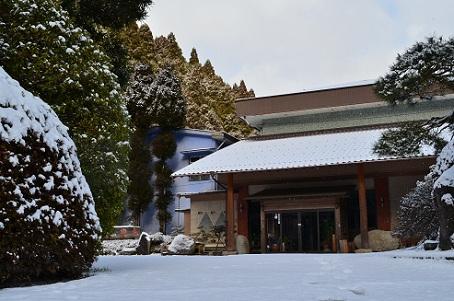冬の豊楽の玄関先2