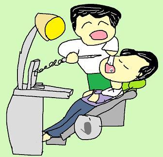 歯医者は話好き