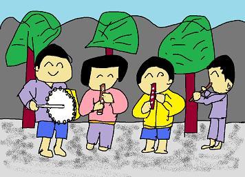 欠食児童の鼓笛隊