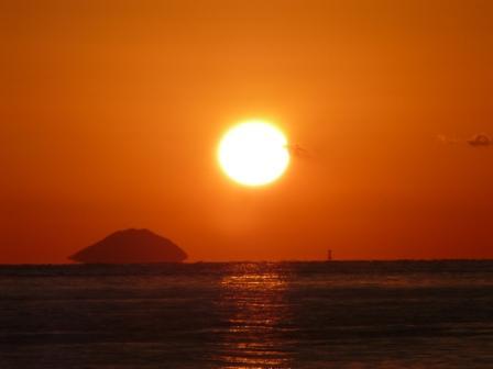 立岩海岸 夕景 9