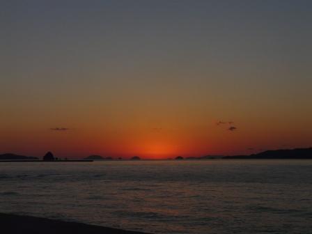 立岩海岸 夕景 22