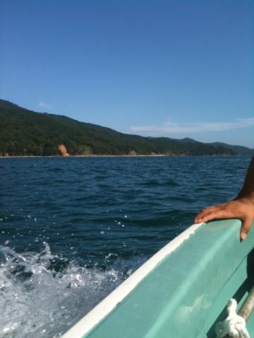 雄勝の海と山