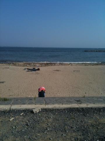 凪いでいる七ヶ浜の海