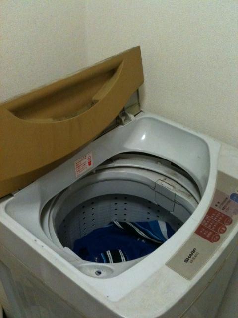 洗濯機のふたが開いている状態