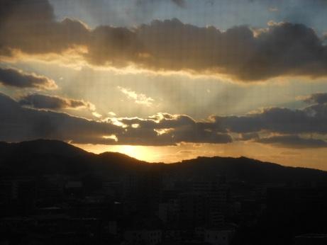 1月26日夕陽