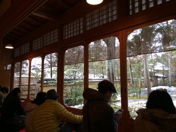 雪見の茶席