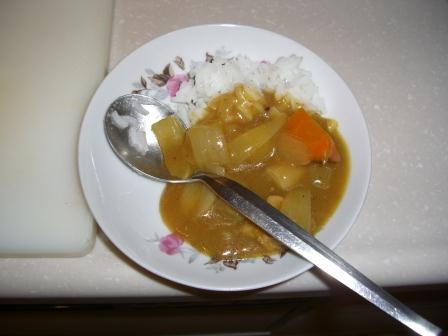 タイ米チャレンジ カレーでは?