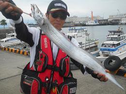 志布志沖堤での太刀魚釣果