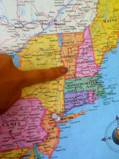 Map Vermont
