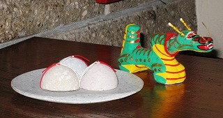 s-正月飾り石