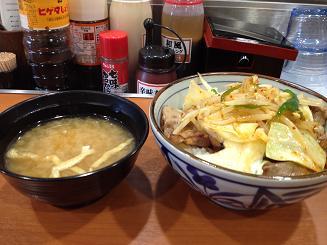 野菜焼き牛丼1