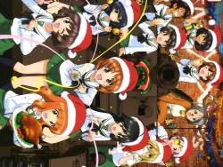 43273522 akiyama_yukari calendar christmas isuzu_hana momogaa nekonyaa nishizumi_miho piyotan reizei_mako seifuku sugimoto_isao takebe_saori thighhighs
