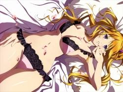 43274390 bra cleavage kurahashi_kyouko okuda_keiko pantsu tokyo_ravens