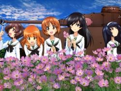43275514 akiyama_yukari girls_und_panzer isuzu_hana nishizumi_miho reizei_mako seifuku takebe_saori