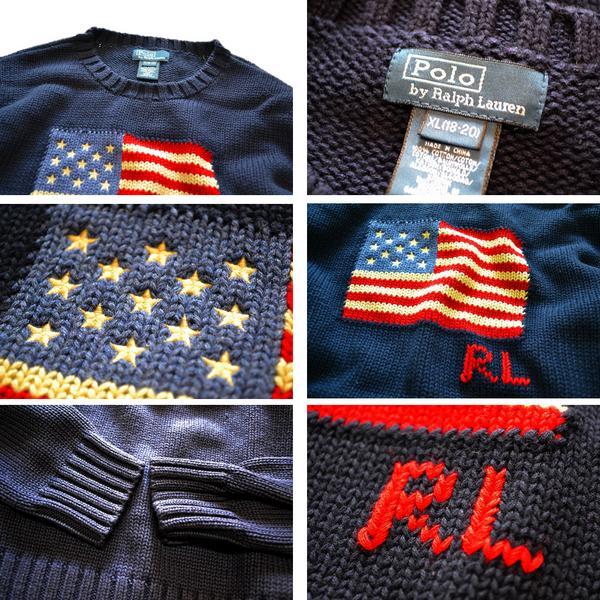 ラルフローレン星条旗ニットセーター画像02