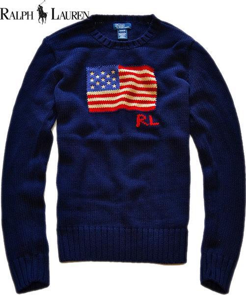 ラルフローレン星条旗ニットセーター画像01