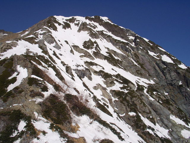 南アルプス-北岳(夜叉神・池山吊尾根)H16・5・1~5・3③ 048