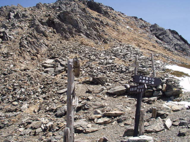 南アルプス-北岳(夜叉神・池山吊尾根)H16・5・1~5・3② 002
