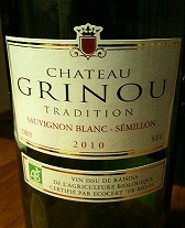 CHATEAU GRINOU TRADITION 2010