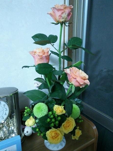 直からもらった花1