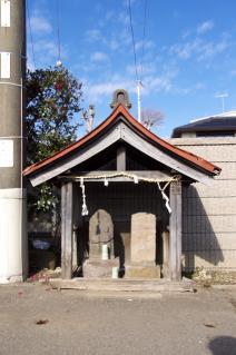 旧東海道:中島川ガード前の道祖神の祠