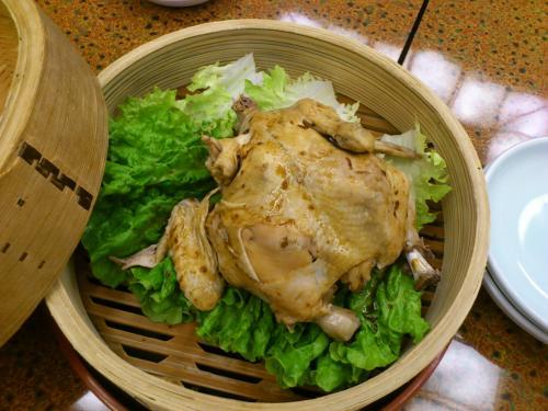 夕食6蒸し鶏