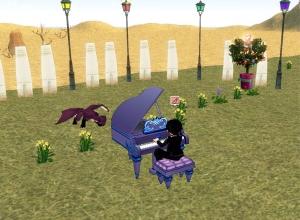 チビドラにピアノを披露する