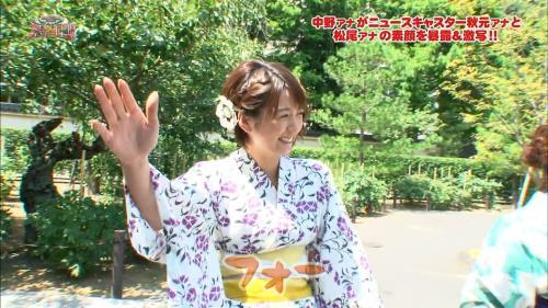 女子アナ秋元優里の浴衣姿キャプチャ画像