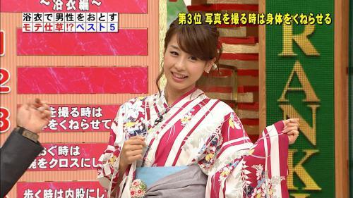 女子アナ加藤綾子の浴衣姿キャプチャ画像