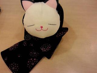 猫さん(1050円 エムルーカンパニー)にモデルになってもらいました。