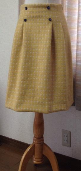黄ウールスカート1