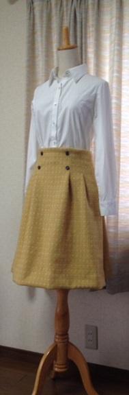 黄ウールスカート2