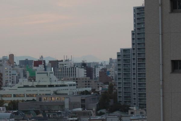 文京区から浅間山遠望