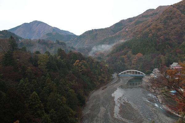 道志川と紅葉