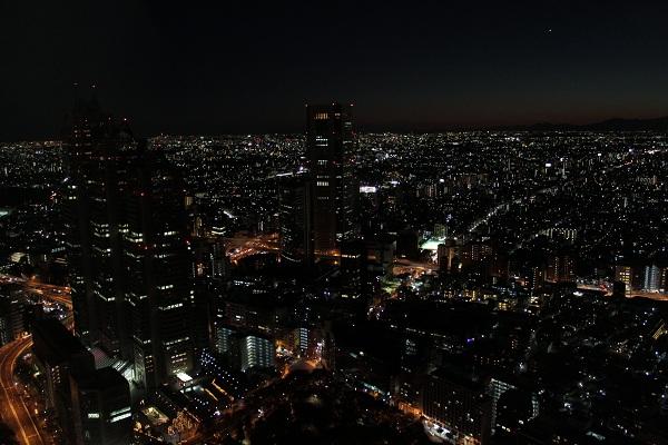 都庁からの夜景(南西)