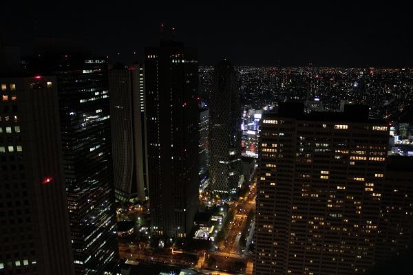 都庁からの夜景(東)