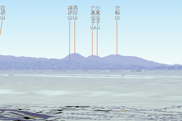 文京区から日光の山々 カシミール3D使用