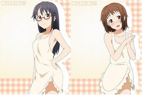 WORKING!! なずな 松本 裸エプロン かわいい