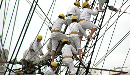 練習帆船 日本丸 セイルドリル(2)-1