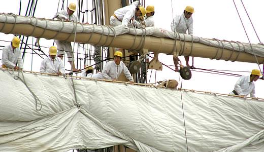 練習帆船 日本丸 セイルドリル(2)-3