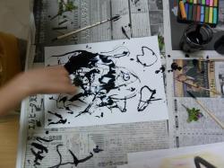 0406土筆で墨絵01