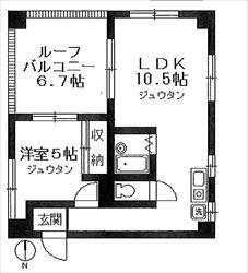 TRビル601号間取り図_R