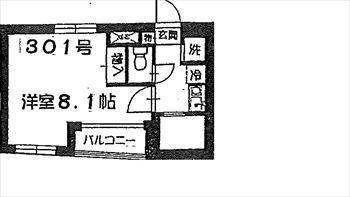 パレス福美301号間取り図_R
