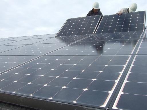 太陽光発電モジュール設置