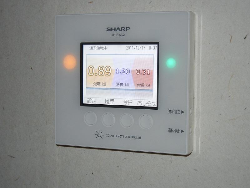 太陽光発電液晶