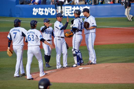 横浜DeNAベイスターズの選手たち