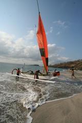 バリ島の朝のビーチ